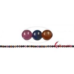 Strang Kugel Saphir und Rubin bunt 4 mm