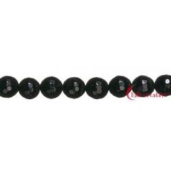Strang Kugel Turmalin schwarz facettiert 6 mm