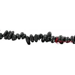 Strang Splitter Turmalin (schwarz) 4-6 x 5-12 mm 80cm