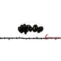 Strang Splitter Turmalin schwarz 1- 3 x 3-8 mm 88 cm