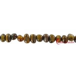 Strang Nuggets Pebbles Tigerauge 7 x 9-12 mm