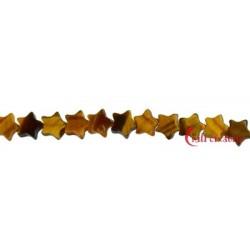Strang Mini-Stern flach Tigerauge 4 mm