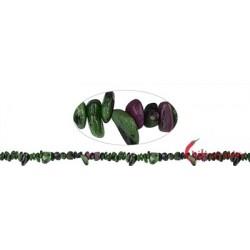 Strang Splitter Rubin in Zoisit 1-3 x 3-8 mm extra lang 88 cm