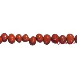 Strang Nuggets Pebbles Jaspis rot 7 x 9-12 mm