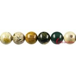 Strang Kugel Ozean-Achat (Chalcedon) 16 mm