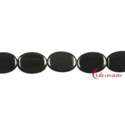 Strang Linse Obsidian Regenbogen 17 x 12 mm