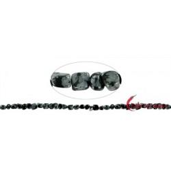 Strang Nuggets Obsidian Schneeflocke 3-5 mm