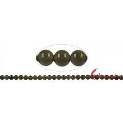 Strang Kugel Obsidian Rauch- A (mit Glanz) 8 mm