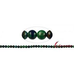 Strang Kugel Azurit-Malachit (stab.) 6 mm