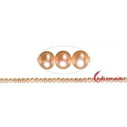 Strang rund Süßwasser-Perle A lachs (natur) 5,5-6 mm