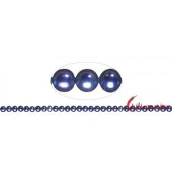 Strang rund Süßwasser-Perle A violett (gefärbt) 5,5-6 mm