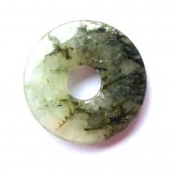 Donut Prehnit mit Hornblende (stabilisiert) 30 mm