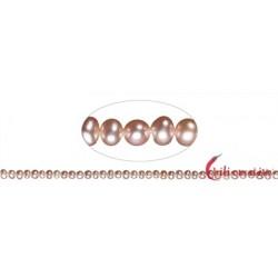 Strang Potatoe Süßwasser-Perle A lila (natur) 3-4 mm