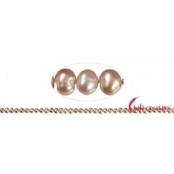 Strang Potatoe Süßwasser-Perle Ab lachs (natur) 4 -5 mm