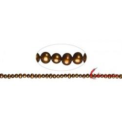 Strang Potatoe Süßwasser-Perle A braun (gefärbt) 4-5 mm