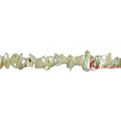 Strang Keshi Süßwasser-Perle A weiß-creme 8 mm