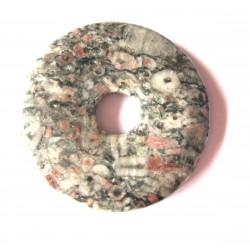 Donut Rhyolith Leoparden 60 mm