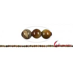 Strang Kugel versteinertes Holz 4 mm (38cm)