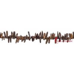Strang Nuggets Zahn Bronzit (Ferro-Enstatit) 3-5 x 12-25 mm