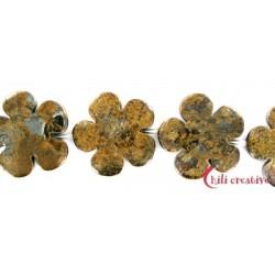 Strang Blüte Bronzit 30mm