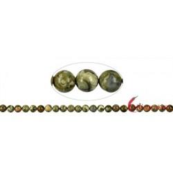 Strang Kugel Rhyolith (Regenwald) 8 mm