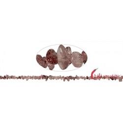 Strang Splitter Hämatitquarz 1- 3 x 3-8 mm 88 cm