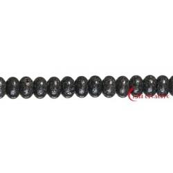 Strang Button Lava poliert/gewachst 8 mm