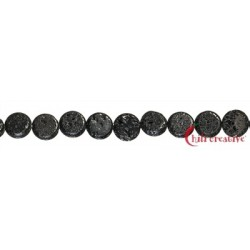 Strang Coin Lava poliert/gewachst 30mm