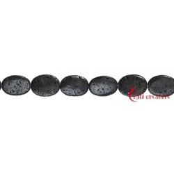 Strang Linse Lava poliert/gewachst 40x30mm