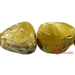 Strang Roh angetrommelt matt Opal Honig 20-25 x 15-22 mm