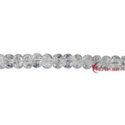 Strang Button Crashed Crystal (behandelt) 4 x 6 mm