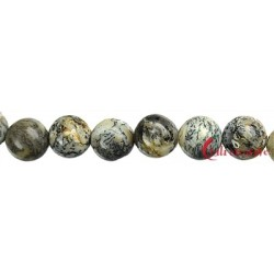 Strang Kugel Opal Dendriten 10 mm