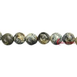 Strang Kugel Opal Dendriten 12 mm
