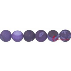 Strang Kugel Achat (Schlangen-) Lavendel (gefärbt) matt 12 mm