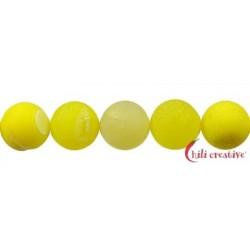 Strang Kugel Achat gelb (gefärbt) matt 14 mm