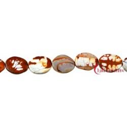 Strang Linse Achat (Schlange) rot (gefärbt) 20 mm