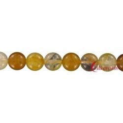 Strang Kugel Eisenkiesel (gelb) 12 mm