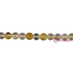 Strang Kugel Eisenkiesel gelb facettiert 6 mm