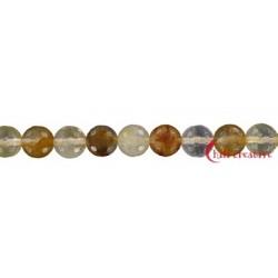 Strang Kugel Eisenkiesel gelb facettiert 8 mm