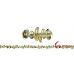 Strang Splitter Limonenquarz (erhitzt) 1-3 x 3-8 mm 88 cm
