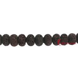 Strang Button Lava braun 10x14 mm