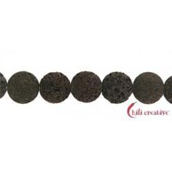 Strang Button Lava braun 18x10 mm