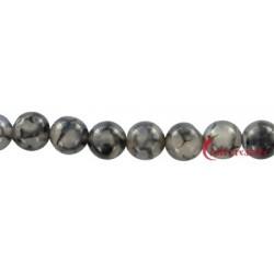 Strang Kugel Achat (Schlange) schwarz (gefärbt) 10 mm