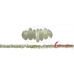 Strang Splitter Mondstein grün 3-4 x 8-12 mm
