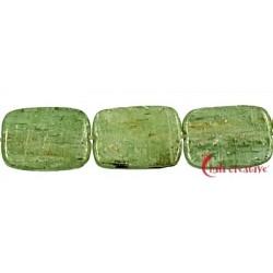 Strang Rechteck flach Disthen (grün) 14 x 10 mm