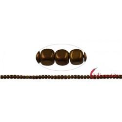 Strang Würfel gerundet Hämatin braun (gefärbt) matt 3x3 mm
