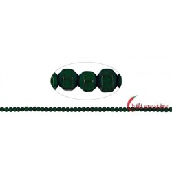 Strang Würfel facettiert Hämatin grün (gefärbt) matt 2 mm