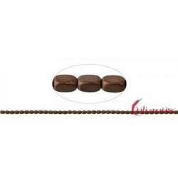 Strang Würfel gerundet Hämatin braun (gefärbt) matt 5 x 3 mm