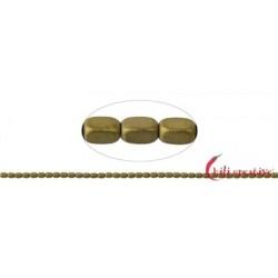 Strang Quader gerundet Hämatin gold (gefärbt) matt 5 x 3 mm