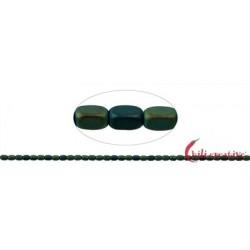 Strang Quader gerundet Hämatin blau-grün (gefärbt) matt 5 x 3 mm